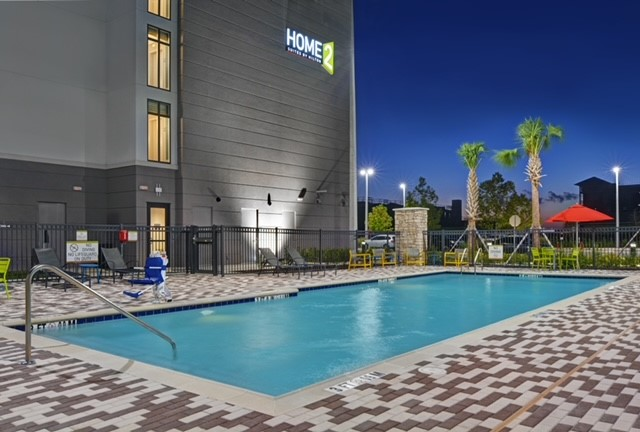 outdoor pool at home2 suites by hilton in melbourne viera florida
