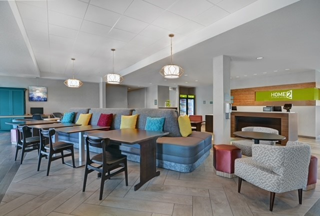 lobby of home2 suites by hilton in melbourne viera florida