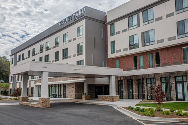 exterior of completed marriott courtyard in cartersville georgia